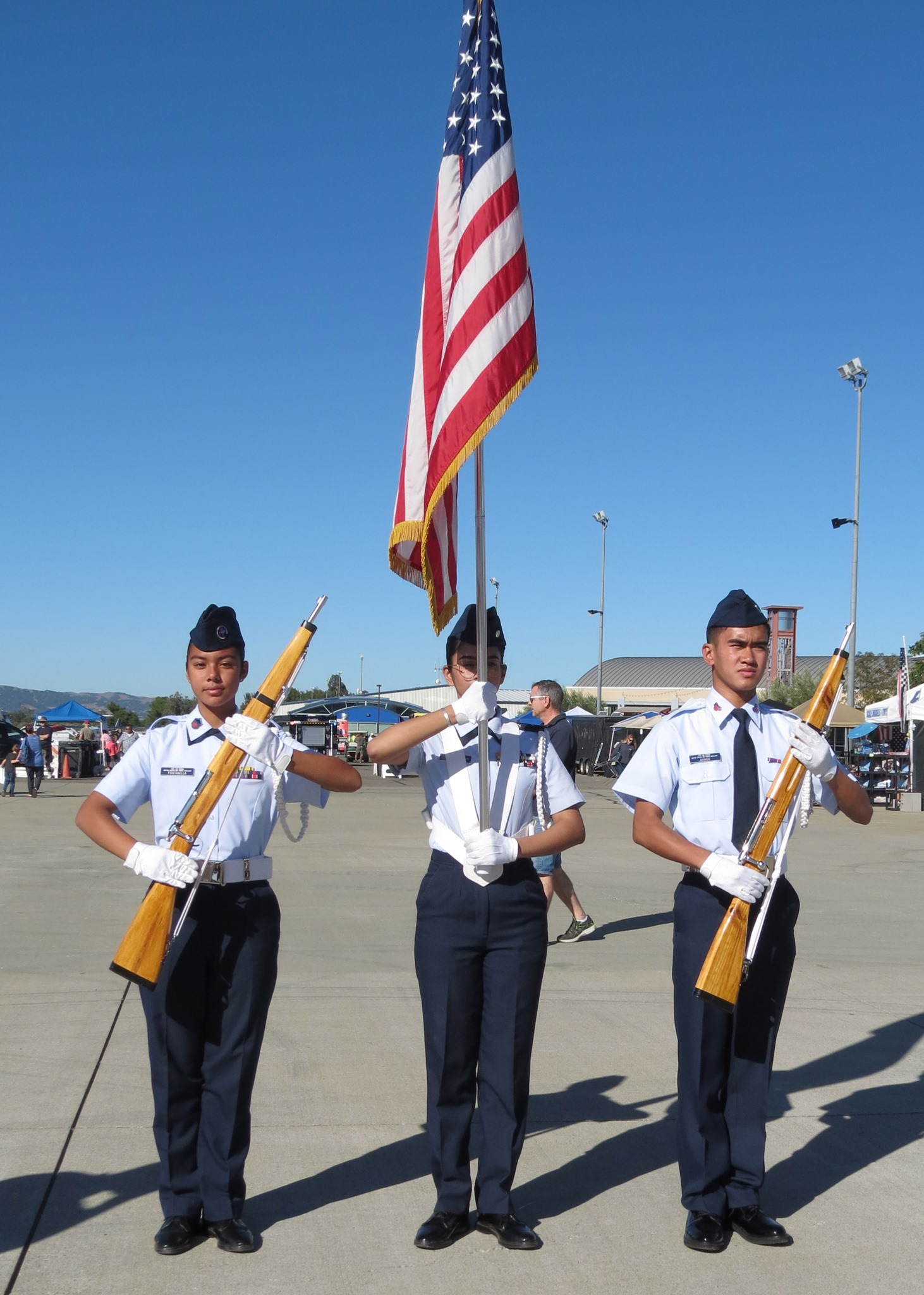 Cadet Color Guard at Livermore Airport Open House