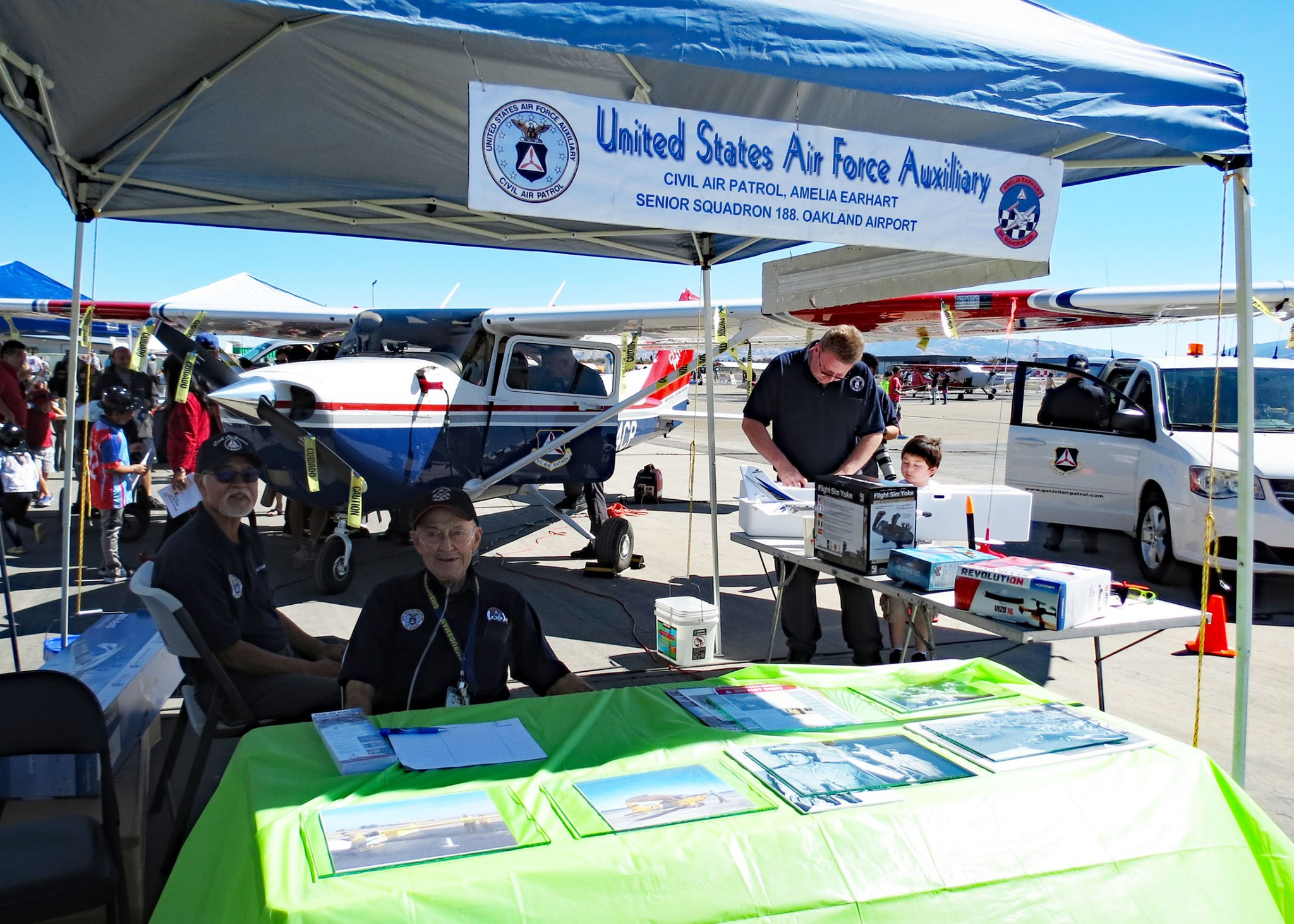 Livermore Airport Open House Display in 2019