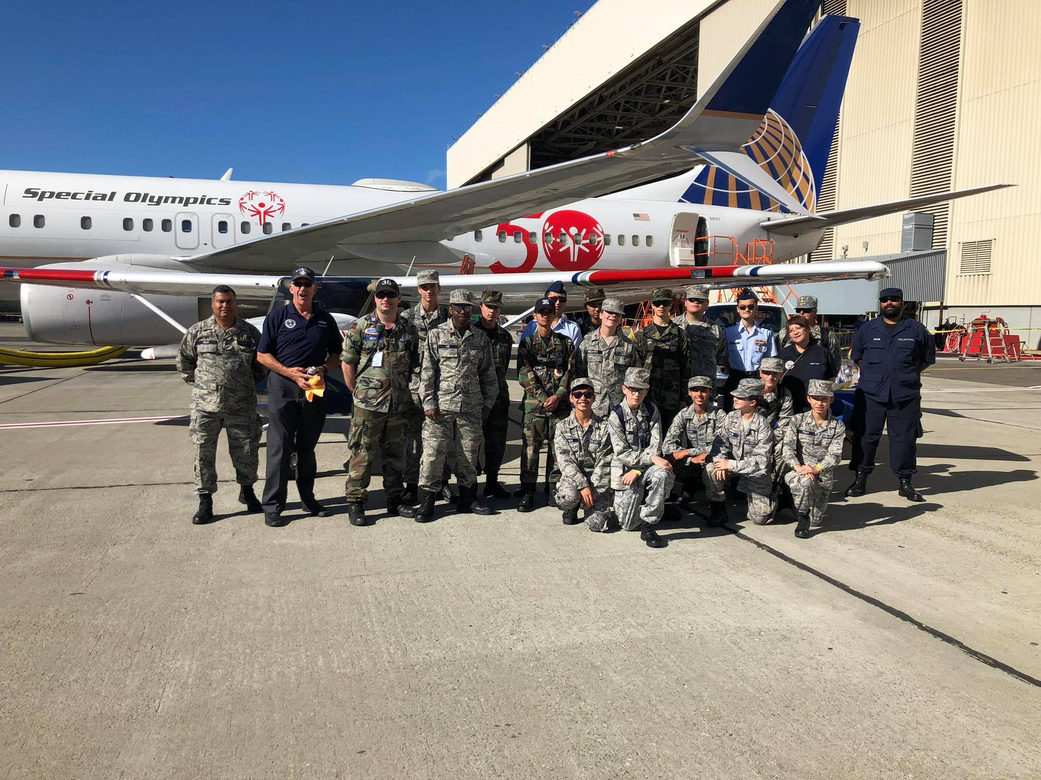 Civil Air Patrol Cadets attending 2019 Open House
