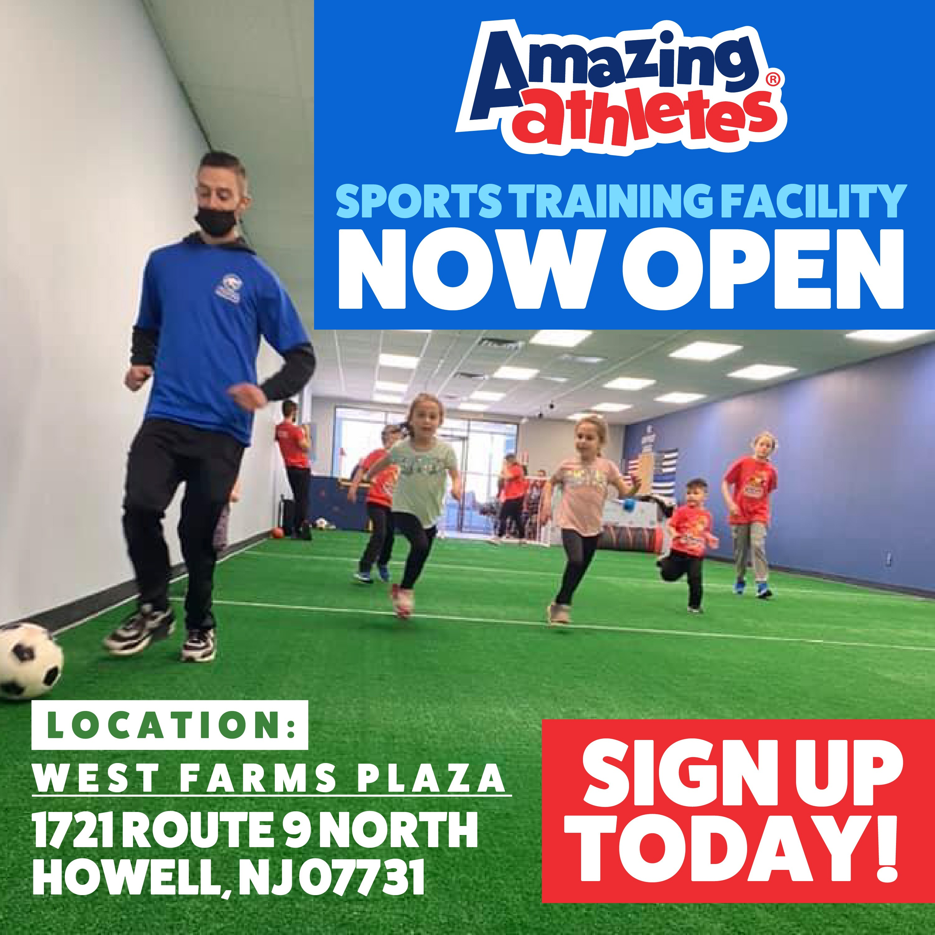 Amazing Athletes Sports Training Facilty opening in Howell Township NJ on Monday April 12 2021